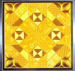 GLITZ & GLAMOUR CITRINE (CC) 108 x 108  DebBee's Designs Counted Canvas Pattern
