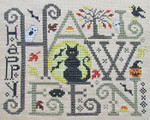 15-2615 Happy Halloween by Silver Creek Samplers 102w x 83h