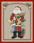 14-2398 Stocking Santa 96w x 122h Sue Hillis Designs YT