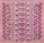 More Rose On Rose 127w x 127h Freda's Fancy Stitching Pattern Only