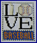 16-1164 Love Baseball (w/chm) by Hinzeit 31w x 41h