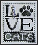 16-1161 Love Cats (w/chm) by Hinzeit 31w x 41h