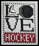 16-1167 Love Hockey (w/chm) by Hinzeit 31w x 41h