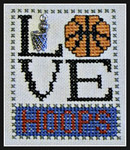16-1168 Love Hoops (w/chm) by Hinzeit 31w x 41h