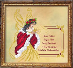 08-2758 Fairy Christmas Greetings by Passione Ricamo  138 X 133.