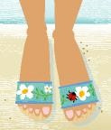 BF415 Birds Of A Feather Fly Away Home Sandal Kit Size 10