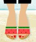 BC505 Birds Of A Feather Watermelon Sandal Kit Size 7