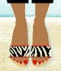 BF726 Birds Of A Feather Zebra Sandal Kit Size 10