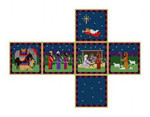 "0205-18 Nativity, cube ornament #18 Mesh  2 3/4"" cube Susan Roberts Needlepoint"