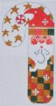 CH-100 Red/Green Checkered Santa Candy Cane 2 ¾ x 5 ¼ 18 Mesh Danji Designs CH Designs