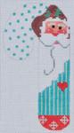 CH-105 Old Fashion Santa Candy Cane 2 ¾ x 5 ¼  Mesh Danji Designs CH Designs