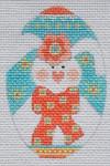 CH-164 Pink Bunny Egg 2 ¼ x 3 ¼ 18 Mesh Danji Designs CH Designs