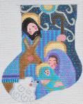 CH-159 Baby Jesus Mini Stocking 4 ¼ x 5 18 Mesh Danji Designs CH Designs