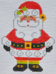 CH-150 Santa Claus(stitch guide available) 3 x 4 18 Mesh Danji Designs CH Designs