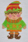 CH-153 Boy Elf 2 ¼ x 3 ½  18 Mesh With stitch guide Danji Designs CH Designs