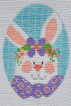 CH-166 Bunny Egg 2 ¼ x 3 ¼ 18 Mesh Danji Designs CH Designs