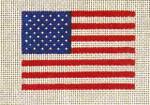 CB-43 Flag  3 ¼ x 2 ¼ 18 Mesh CHRISTINE SAUNDERS– EYE OF THE NEEDLE