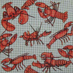 222 Lobsters 14 x 14 13 Mesh Danji Designs