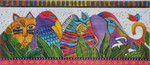 LB-31 Rainbow Safari 16 x 7 18 Mesh Danji Designs LAUREL BURCH