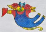 LB-124 Blue Angel Cat 6 x 4 18 Mesh Danji Designs LAUREL BURCH