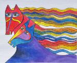LB-121 Wind Spirits 10 x 8 13 Mesh Danji Designs LAUREL BURCH