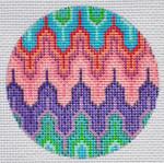 """TM-07 Geometric Round 7 3"""" Round 18 Mesh TANYA MERTEL Danji Designs"""