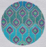 """TM-05 Geometric Round 5 3"""" Round 18 Mesh TANYA MERTEL Danji Designs"""