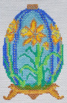 TM-13 Daffodil Egg 2 ¾ x 4 ¼ 18 Mesh TANYA MERTEL Danji Designs
