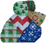 LM-154 Chevron Patch Christmas Mouse 3.5x3 18 Mesh Associated Talents