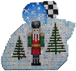 LM-151 Nutcracker/Trees Christmas Mouse 3.5x3 18 Mesh Associated Talents