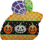 LM-101 Pumpkin Checks Halloween Mouse 3.25x3 18 Mesh Associated Talents