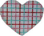HE-829 Tattersall Heart 3.5x3 18 Mesh Associated Talents