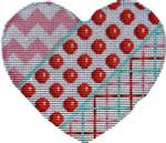 HE-1002 Chevron/Coin Dot/Tattersall Heart 4.75x4 18 Mesh Associated Talents