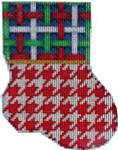 CT-1905 Multi Lattice/Red Houndstooth Mini Sock 3.25x4.25 18 Mesh Associated Talents
