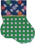 CT-1901 Multi Candiess/Green Lattice Mini Sock 3.25x4.25 18 Mesh Associated Talents