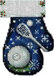 CT-1886 La Crosse Mitten 2.75x3.75 18 Mesh Associated Talents