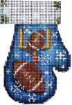 CT-1883 Football Mitten 2.75x3.75 18 Mesh Associated Talents