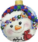 CT-1813 Snowman Ball Checkered Hat 3x3.25 18 Mesh Associated Talents