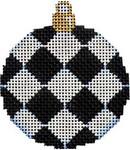 CT-1476BL Black Harlequin Mini Ball Orna. 2.5x2.75 18 Mesh Associated Talents