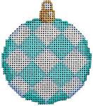 CT-1476A Aqua Harlequin Mini Ball Orna. 2.5x2.75 18 Mesh Associated Talents