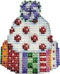 CT-1350 Jolly Pattern Mini Hat 2x2.25 18 Mesh Associated Talents