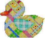 BD-102 Woven Ribbon Duckie 3.5x2.75 18 Mesh Associated Talents