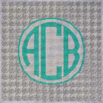 AA-793GR Grey/White Houndstooth Monogram 10x10 13 Mesh Associated Talents