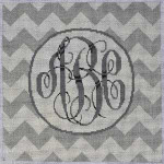 AA-791GR Grey/White Chevron Monogram 10x10 13 Mesh Associated Talents