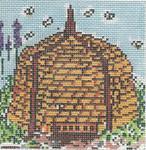SWB145D Bee Skep 4X4 18 Mesh Cooper Oaks Designs