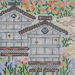 SWB145A Bee Skep 4X4 18 Mesh Cooper Oaks Designs