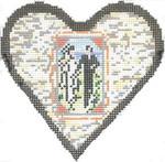 COL558C Wedding Heart 6X6 18 Mesh Cooper Oaks Designs