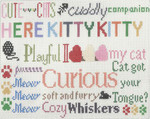 CC727 Here Kitty Kitty 11.5X11.5 13 Mesh Cooper Oaks Designsn