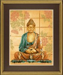 "PN8040 Lanarte Kit Buddha 16"" x 20""; Evenweave; 27ct"
