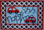 KC-218 Shh Naptime Cars/Dots 7x5  13 Mesh Associated Talents